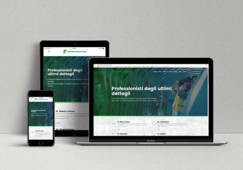 Sito web aziendale Due Effe Strutture