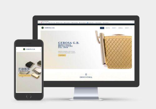 Sito web aziendale Gerosa G.B.